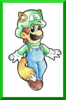 Kitsune Luigi by goldenwinterdaisies