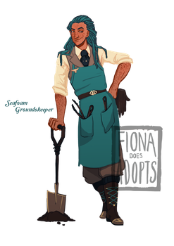 [open] Adopt - Seafoam Groundskeeper by fionadoesadopts