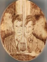 The Two Doctors Woodburning by wickedtiger86
