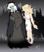 DP: Death and Persephone by The-Clockwork-Crow