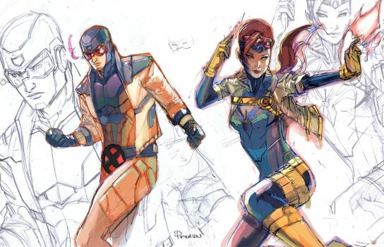 Cyclops Jean redesign fun by Peter-v-Nguyen