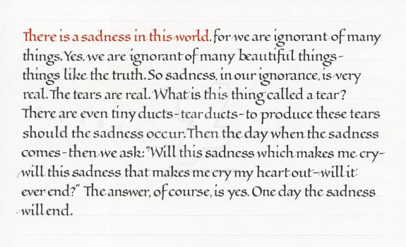 There is a Sadness by isolationism