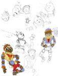 Sketch Test: Colour and Character Design by Captian-Cardshark