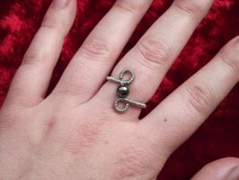 Hematite ring by ShadeJewerly