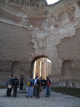 Tourists at the Baths of Caracalla by J-N-K