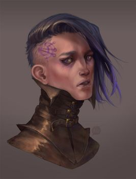 The Cleric: Face by Bleuacide