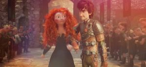 Merida and Hiccup stroll by MsMarshmallowMadness