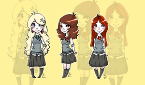 Chibi: HP girls by sneakycreatures