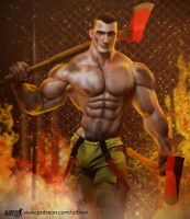 Karl the Firefighter by albron111
