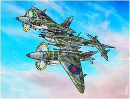 6XX Squadron Mosquito by tomzoo