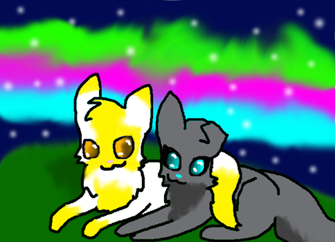 Goldenheart and Silverblade by frogsdolphins
