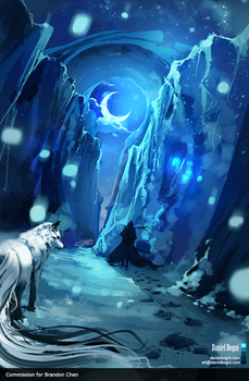 Ghost Wolf - Commission by danielbogni