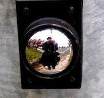 Self-portrait Push Button by Noreiarain