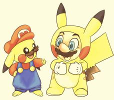 pikao and mariochu by Scuterr