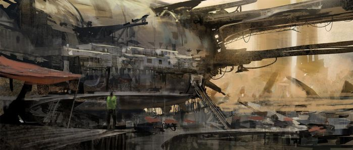 Speedpainting - Wreckage Dwelling - by KlausPillon