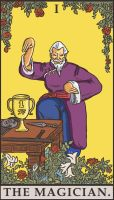 Street Fighter Tarot - The Magician by SayIanIanIan