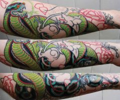 when snakes attack by newtskewltattoo