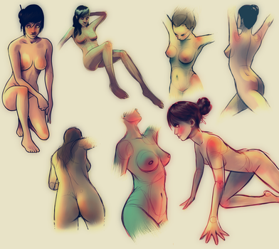 Studies of Female Anatomy by vincenthachen