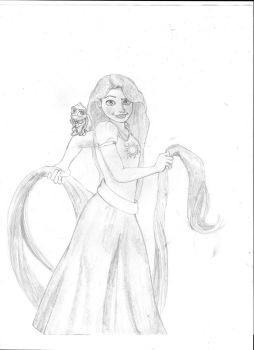 part 1 of 2 of request Rapunzel with red hair by killcodekids