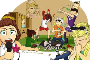 Monopoly at the Loud House by the-acolyte-artist