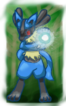 (PF) Lucario by CharcoalOwl
