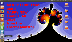 Happy Holidays 2015-16 by FractalMonster