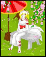 Kia wolf .:cherry blossoms:. by KiaTheWolf