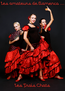 The Three Cats Flamenco Lovers by David-Michaels