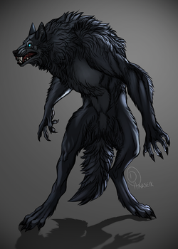 Trade - Ryo, the Floofy Werewolf by Harseik