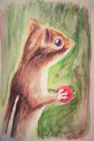 Watercolor Chipmunk by philippeL