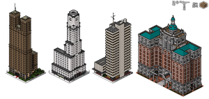 Superpolis Skyscrapers by themozack