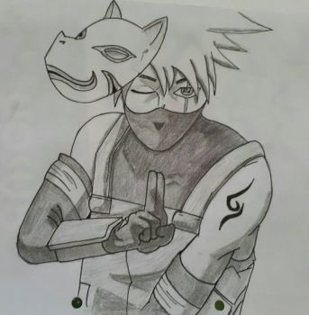 kakashi fastdrawing commission  by Littlekitykat