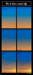 How to draw a sunset sky by EolSB