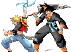 Naruffy and Ichigoku by taresh