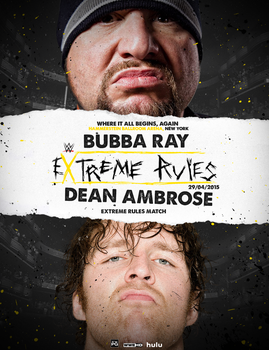 EXTREME RULES - WWE FANTASY POSTERv2 by realtita14