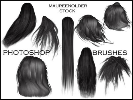 STOCK PHOTOSHOP BRUSHES hair by MaureenOlder