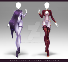 (CLOSED) Adoptable Outfit Auction 196 - 197 by JawitReen
