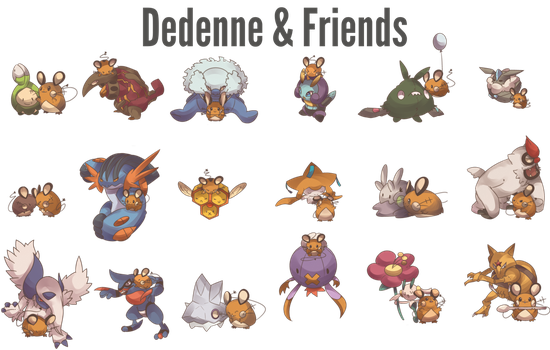 Day 592 B - Dedenne and Friends by AutobotTesla