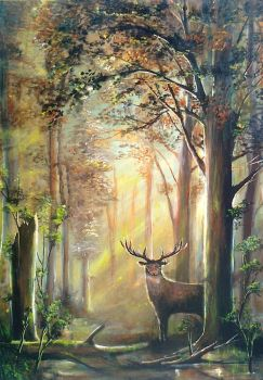 Deer in the forest by TeleGabor