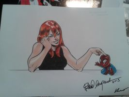 MJ Comicon Sketch by elena-casagrande