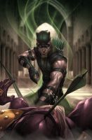 JL Rise and Fall: GREEN ARROW by Artgerm