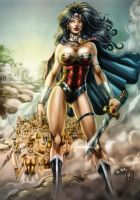 Wonder Woman And The Amazons (colors) by FantasticMystery