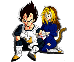 Commission Vegeta and Nala by maga-a7x