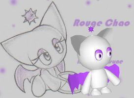 Rouge Chao 3-D by caboose11l2