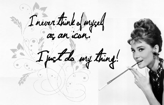 Icon - Audrey Hepburn by LadyRandom