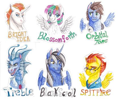 Commish: Bronycon Badges batch 1 by Earthsong9405