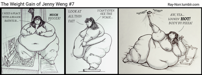The Weight Gain of Jenny Weng, pt 7 by Ray-Norr