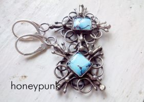 Earrings Cross by honeypunk