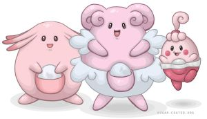 Happiny, Chansey + Blissey