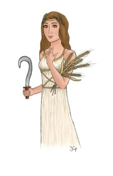 Goddess Demeter // first tablet try by Irizzz-loves-drawing